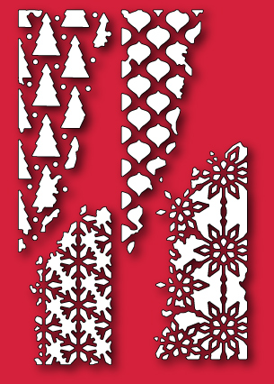 Home Dies All 30063 Distressed Holiday Collage Craft