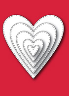 30013 Stitched Heart Layers craft dies