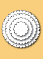 30050 Pinpoint Scalloped Circles craft dies