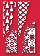30063 Distressed Holiday Collage craft dies