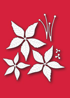 30093 Poinsettia Blooms craft die