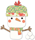 30099 Wonderland Snowman deep edge craft die