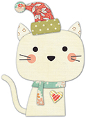 30100 Snow Kitty deep edge craft die