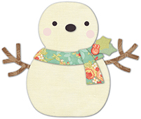 30105 Cheering Snowman deep edge craft die