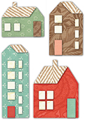 30106 Mountain Village Houses deep edge craft die
