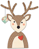 30109 Decorated Deer deep edge craft die