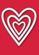 30119 Wrapped Stitched Heart Frame craft die
