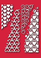 30121 Distressed Heart Collage craft die