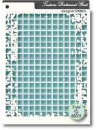 88531 Distressed Grid stencil