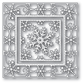 94024 Elegant Snowflake Double Frame craft die