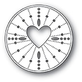 94123 Pinpoint Heart Circle craft die