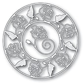 94231 Stained Glass Rose Circle Frame craft die