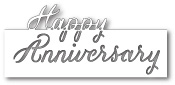 99205 Grand Happy Anniversary Script craft dies