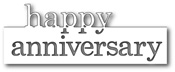 99207 Grand Happy Anniversary craft dies