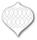 99260 Stitched Chesterfield Ornament craft dies
