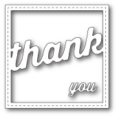 99269 Stitched Thank You Square Frame craft dies