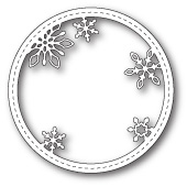 99273 Stitched Snowflake Circle Frame craft dies
