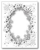 99278 Flurry Snowflake Frame craft dies