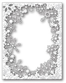 99281 Dancing Snowflake Frame craft dies