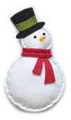 99305 Plush Bundled Snowman