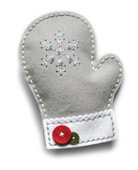 99308 Plush Frosty Mitten craft die