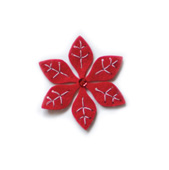 99309 Plush Poinsettia craft die