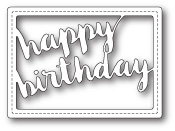 99379 Stitched Happy Birthday Rectangle craft die