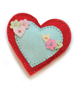 99384 Plush Folk Hearts craft die
