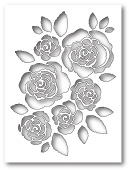 99435 English Rose Collage craft die