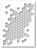 99443 Honeycomb Collage craft die