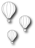 99472 Floating Balloon Trio craft die