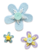 99475 Plush Prairie Flowers craft die
