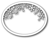 99480 Snowflake Oval Frame craft die