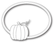 99525 Harvest Pumpkin Oval Frame craft die