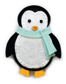 99559 Plush Cute Penguin craft die
