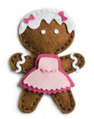 99561 Plush Gingerbread craft die