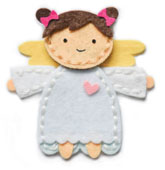 99569 Plush Angel craft die