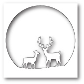 99575 Deer Family Circle craft die