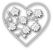 99629 Drifting Flowers Heart craft die