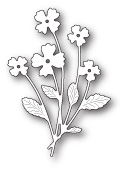 99654 Petite Flower Bunch craft die
