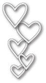99661 Classic Stitched Heart Rings craft die