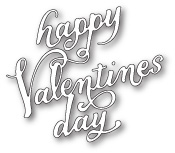 99670 Happy Valentines Day Elegant Script craft die