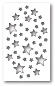 99696 Shimmer Star Collage craft die