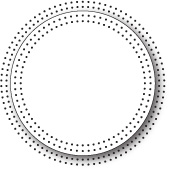 99760 Pinpoint Circle Frame craft die