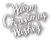 99784 Warm Christmas Wishes craft die