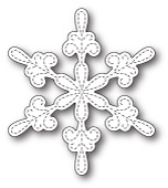 99802 Chancery Snowflake Outline craft die