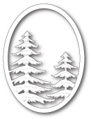 99831 Snowy Pine Oval craft die
