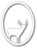 99834 Single Deer Oval craft die