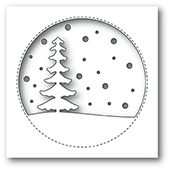 99887 Snowy Tree Circle craft die