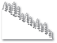 99888 Evergreen Hillside Slope craft die